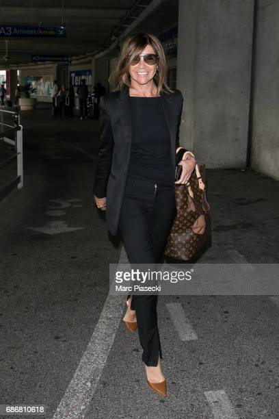 Carine Roitfeld arrives at Nice airport during the 70th annual Cannes Film Festival at on May 22 2017 in Cannes France