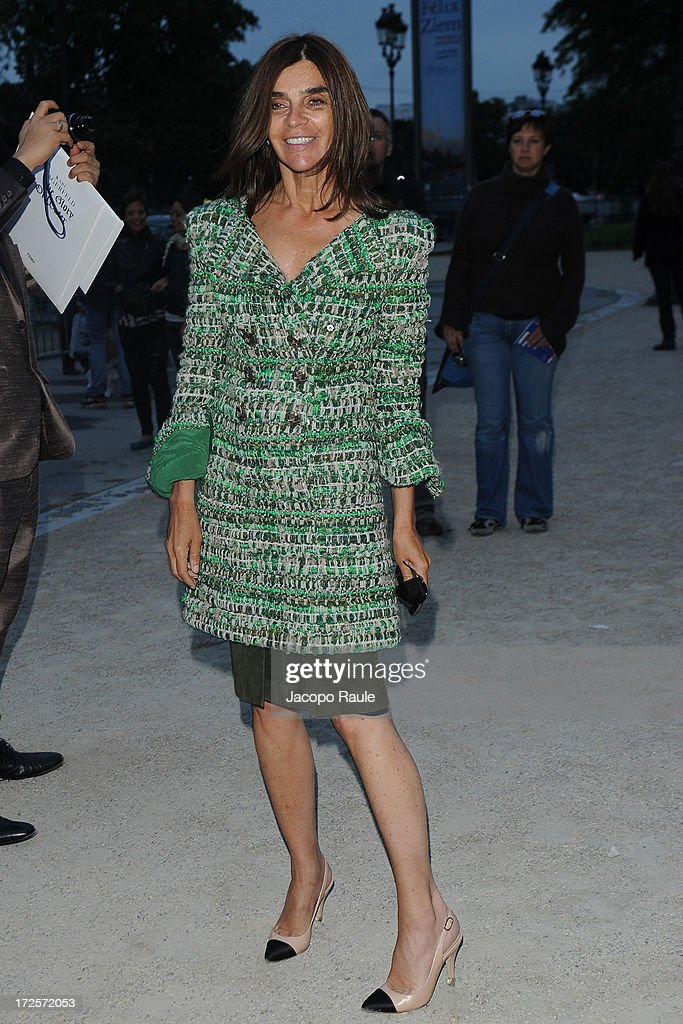 Carine Roitfeld arrives at 'The Glory Of Water' : Karl Lagerfeld's Exhibition Dinner at Fendi on July 3, 2013 in Paris, France.
