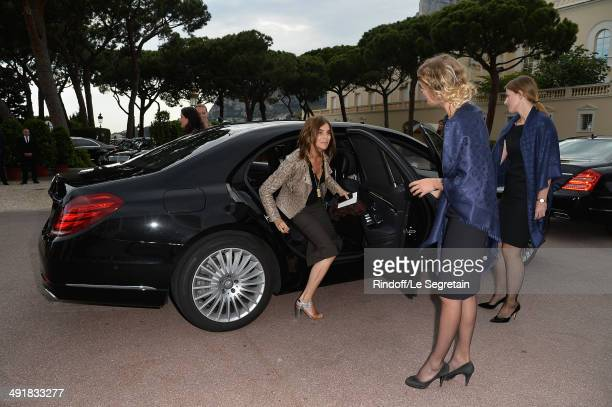 Carine Roitfeld arrives at the Louis Vuitton Cruise Line Show 2015 at Palais Princier on May 17 2014 in MonteCarlo Monaco