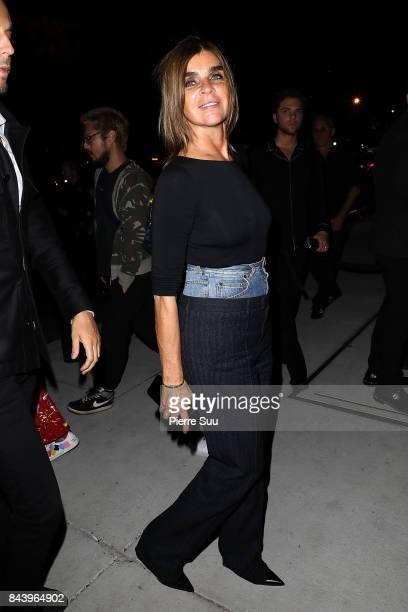 Carine Roitfeld arrives at the Mert Alas x Marcus Piggot book launch party at Public Hotelon September 7 2017 in New York City