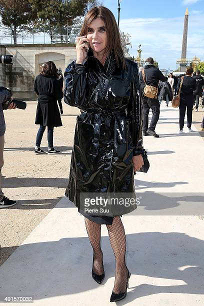 Carine Roitfeld arrives at the Valentino show as part of the Paris Fashion Week Womenswear Spring/Summer 2016 on October 6 2015 in Paris France