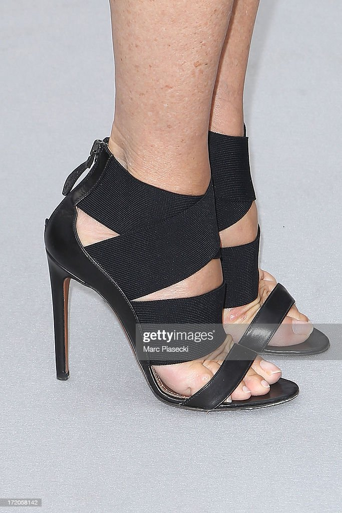 Carine Roitfeld (shoe detail) arrives to attend the Christian Dior show as part of Paris Fashion Week Haute Couture Fall/Winter 2013-2014 at on July 1, 2013 in Paris, France.
