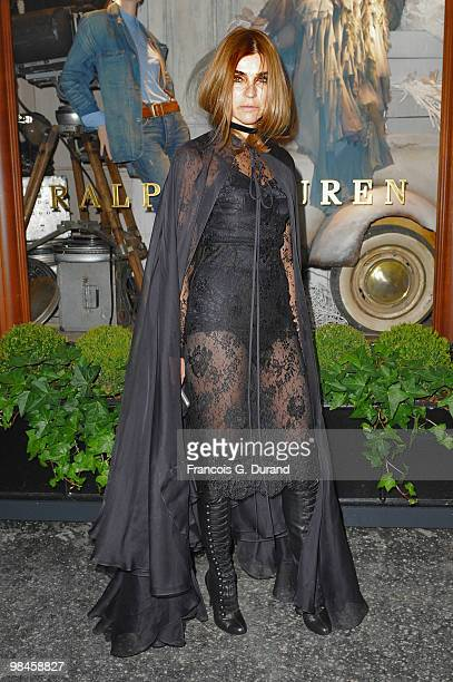 Carine Roitfeld arrives to the Ralph Lauren dinner to celebrate the opening of the flagship on April 14 2010 in Paris France