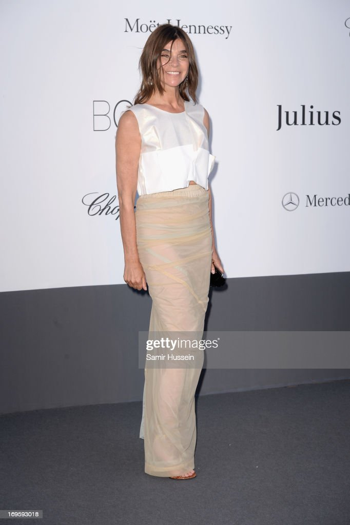 Carine Roitfeld attends amfAR's 20th Annual Cinema Against AIDS during The 66th Annual Cannes Film Festival at Hotel du Cap-Eden-Roc on May 23, 2013 in Cap d'Antibes, France.
