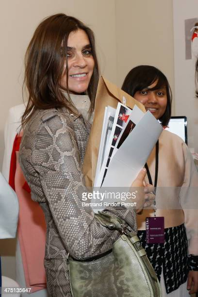 Carine Roitfeld attends LVMH Prize SemiFinalists Designers Cocktail Party on February 26 2014 in Paris France