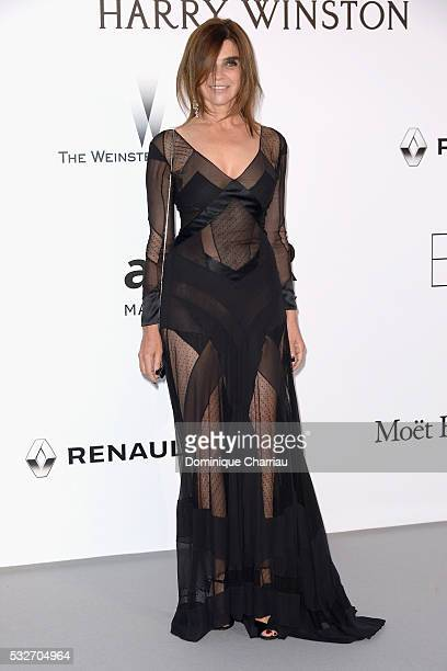 Carine Roitfeld attends the amfAR's 23rd Cinema Against AIDS Gala at Hotel du CapEdenRoc on May 19 2016 in Cap d'Antibes France