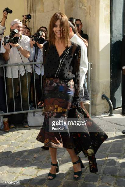 Carine Roitfeld attends the Christian Dior show as part of the Paris Fashion Week Womenswear Spring/Summer 2014 At the Musee Rodin on September 27...
