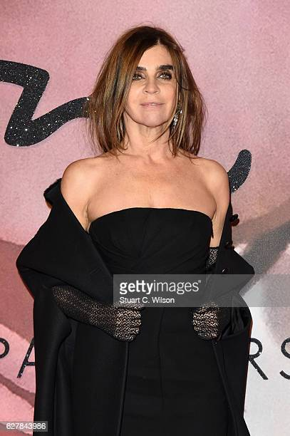 Carine Roitfeld attends The Fashion Awards 2016 on December 5 2016 in London United Kingdom
