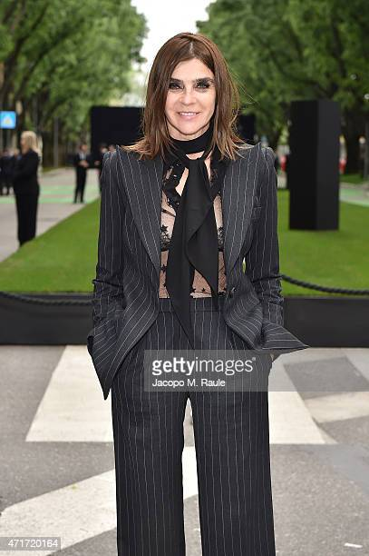 Carine Roitfeld attends the Giorgio Armani 40th Anniversary Silos Opening And Cocktail Reception on April 30 2015 in Milan Italy