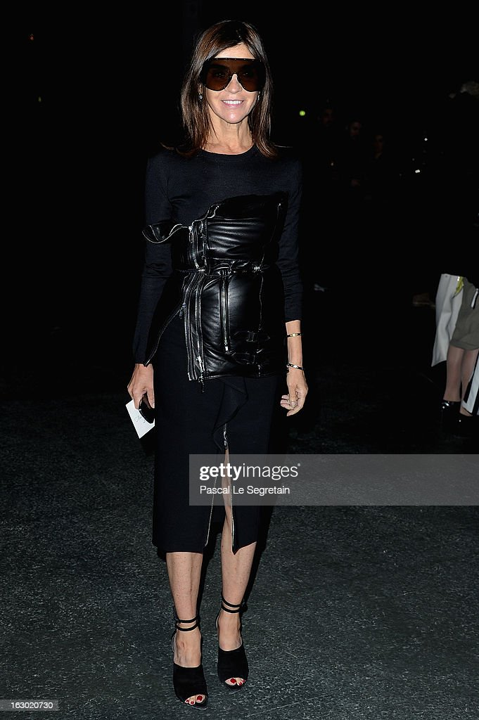 Carine Roitfeld attends the Givenchy Fall/Winter 2013 Ready-to-Wear show as part of Paris Fashion Week on March 3, 2013 in Paris, France.