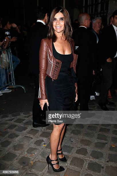 Carine Roitfeld attends the Givenchy show as part of the Paris Fashion Week Womenswear Spring/Summer 2015 on September 28 2014 in Paris France