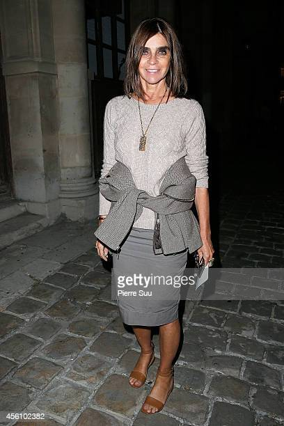 Carine Roitfeld attends the Lanvin show as part of the Paris Fashion Week Womenswear Spring/Summer 2015 on September 25 2014 in Paris France