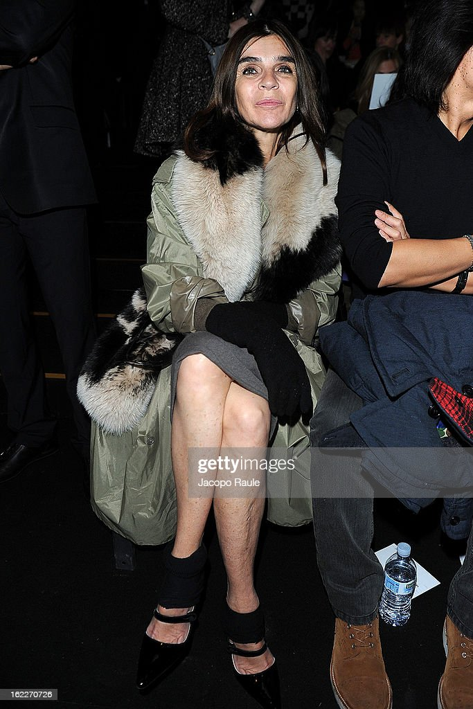 <a gi-track='captionPersonalityLinkClicked' href=/galleries/search?phrase=Carine+Roitfeld&family=editorial&specificpeople=240177 ng-click='$event.stopPropagation()'>Carine Roitfeld</a> attends the Max Mara fashion show during Milan Fashion Week Womenswear Fall/Winter 2013/14 on February 21, 2013 in Milan, Italy.