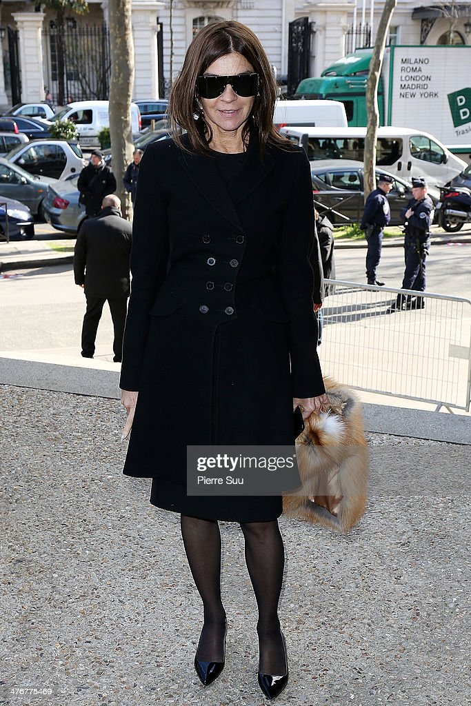 <a gi-track='captionPersonalityLinkClicked' href=/galleries/search?phrase=Carine+Roitfeld&family=editorial&specificpeople=240177 ng-click='$event.stopPropagation()'>Carine Roitfeld</a> attends the Miu Miu show as part of the Paris Fashion Week Womenswear Fall/Winter 2014-2015 on March 5, 2014 in Paris, France.