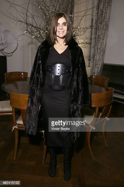 Carine Roitfeld attends the party for Dasha Zhukova' cover for Wall Street Journal on January 27 2015 in Paris France