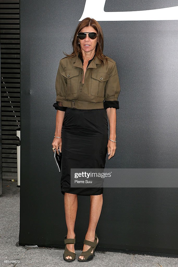 Carine Roitfeld attends the Saint Laurent show as part of the Paris Fashion Week Menswear Spring/Summer 2015 on June 29 2014 in Paris France