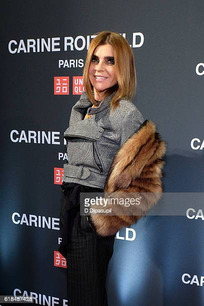 Carine Roitfeld attends the UNIQLO Fall/Winter 2016 Carine Roitfeld Collection Launch at UNIQLO on October 26 2016 in New York City