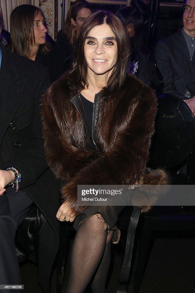 Versace : Front Row - Paris Fashion Week - Haute Couture S/S 2015