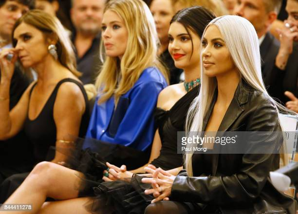 Carine Roitfeld Doutzen Kroes Kendall Jenner and Kim Kardashian West attend the Daily Front Row's Fashion Media Awards at Four Seasons Hotel New York...