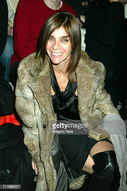 Carine Roitfeld during Marc Jacobs 2003 Fall Collection attendees at NY State Armory in New York NY United States
