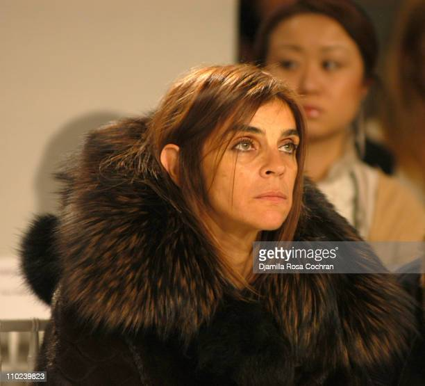 Carine Roitfeld during Olympus Fashion Week Fall 2005 Derek Lam Front Row at Milk Studios in New York City New York United States