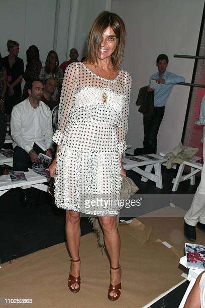 Carine Roitfeld editorinchief of French Vogue during Olympus Fashion Week Spring 2006 Diane Von Furstenberg Backstage Front Row and Arrivals at Diane...