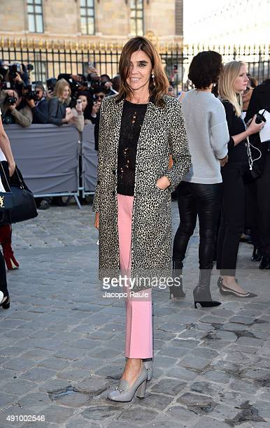 Carine Roitfeld is arriving at Dior Fashion Show during the Paris Fashion Week S/S 2016 Day 4 on October 2 2015 in Paris France