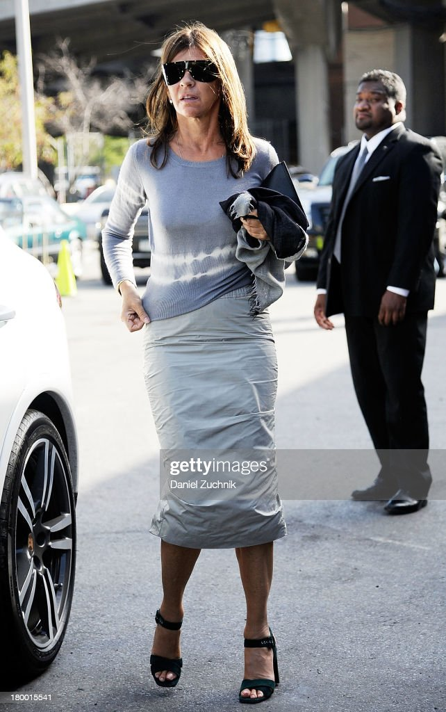 <a gi-track='captionPersonalityLinkClicked' href=/galleries/search?phrase=Carine+Roitfeld&family=editorial&specificpeople=240177 ng-click='$event.stopPropagation()'>Carine Roitfeld</a> is seen outside the Alexander Wang show on September 7, 2013 in New York City.