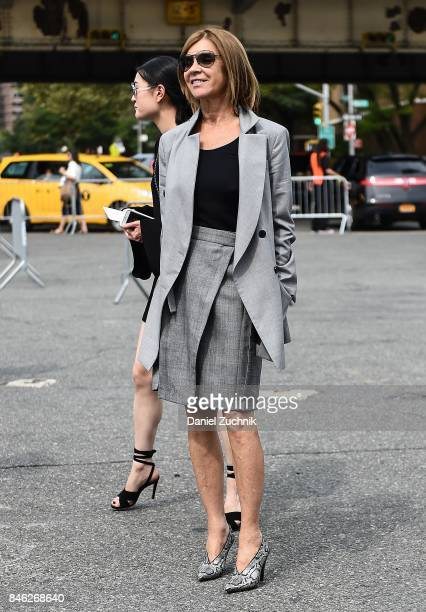 Carine Roitfeld is seen outside the Coach show during New York Fashion Week Women's S/S 2018 on September 12 2017 in New York City