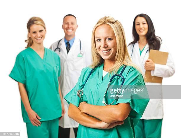 Cuidados equipa médica