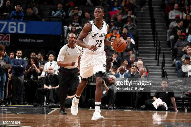 Caris LeVert of the Brooklyn Nets handles the ball against the Dallas Mavericks on March 19 2017 at Barclays Center in Brooklyn New York NOTE TO USER...