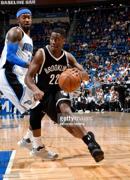 Caris LeVert of the Brooklyn Nets handles the ball against the Orlando Magic during the game on April 6 2017 at Amway Center in Orlando Florida NOTE...