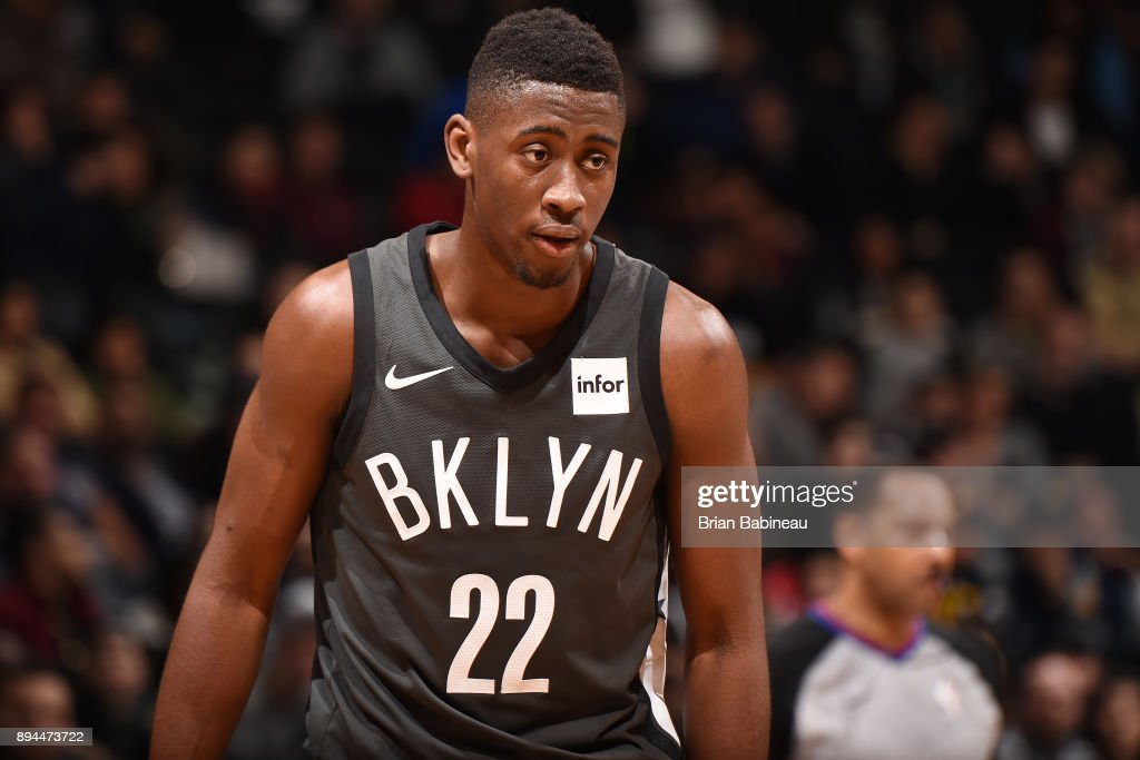 Caris LeVert #22 of the Brooklyn Nets looks on during the game against the Indiana Pacers on December 17, 2017 at Barclays Center in Brooklyn, New York.