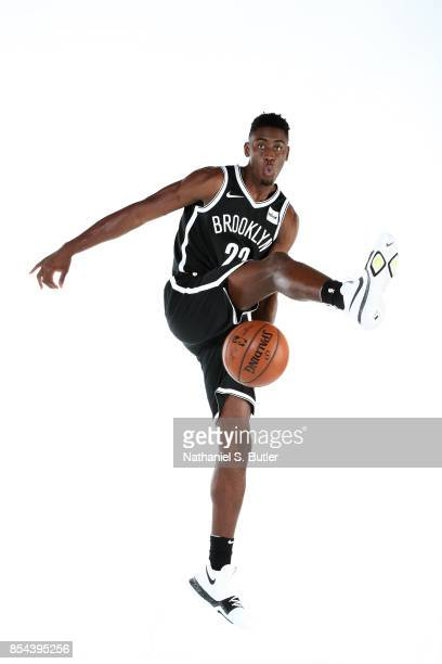 Caris LeVert of the Brooklyn Nets poses for a portrait during the 20172018 Brooklyn Nets Media Day at the Hospital for Special Surgery Training...