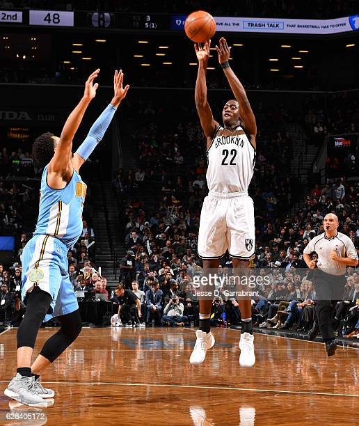 Caris LeVert of the Brooklyn Nets shoots the ball against the Denver Nuggets on January 22 2016 at Barclays Center in Brooklyn New York NOTE TO USER...