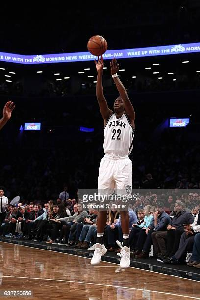 Caris LeVert of the Brooklyn Nets shoots the ball against the Miami Heat on January 25 2017 at Barclays Center in Brooklyn New York NOTE TO USER User...
