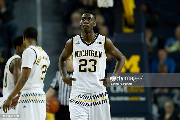 Caris LeVert of the Michigan Wolverines during the second half of a game against the Northern Kentucky Norse at Crisler Arena on December 15 2015 in...