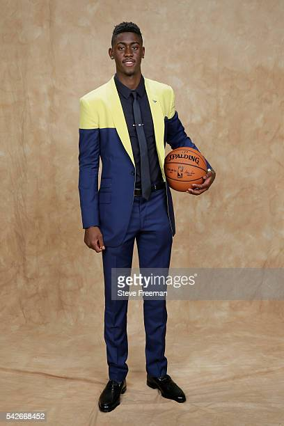 Caris LeVert poses for a portrait after being drafted number twenty overall by the Indiana Pacers during the 2016 NBA Draft on June 23 2016 at...