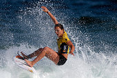 Carissa Moore of Australia surfs during Round 1 Heats at the Oi Rio Pro on May 12 2015 in Rio de Janeiro Brazil