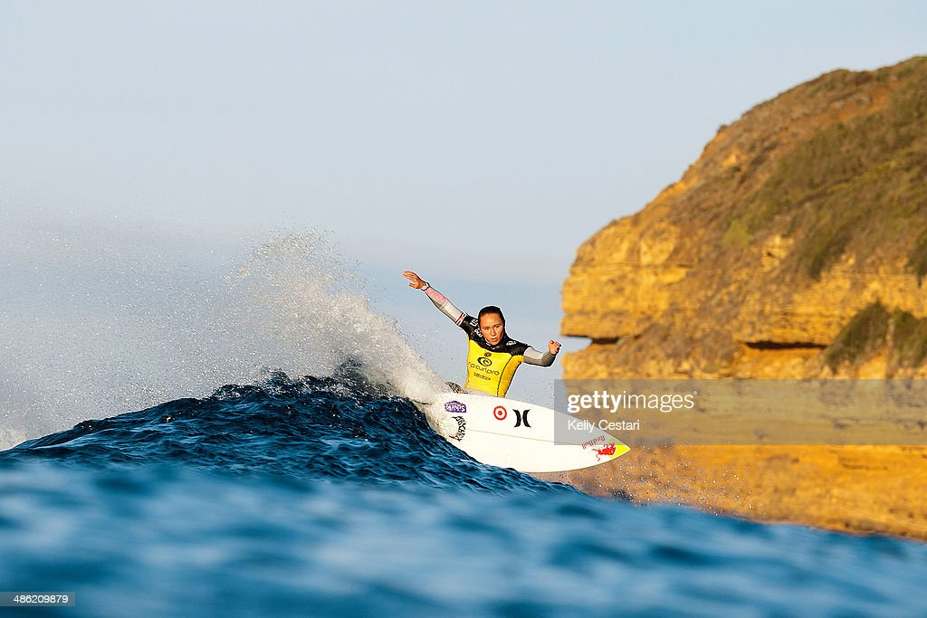<a gi-track='captionPersonalityLinkClicked' href=/galleries/search?phrase=Carissa+Moore&family=editorial&specificpeople=4026446 ng-click='$event.stopPropagation()'>Carissa Moore</a> of Hawaii won the Womens Ripcurl Pro Bells Beach for the second consecutive year on April 23, 2014 in Bells Beach, Australia.