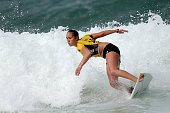 Carissa Moore of the United States surfs during the Round 3 of the Oi Rio Pro on May 16 2015 in Rio de Janeiro Brazil