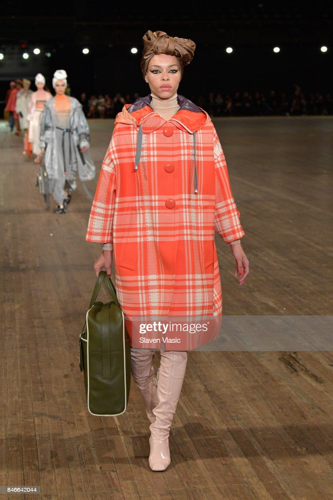 Carissa Pinkston walks the runway for Marc Jacobs SS18 fashion show during New York Fashion Week at Park Avenue Armory on September 13, 2017 in New York City.