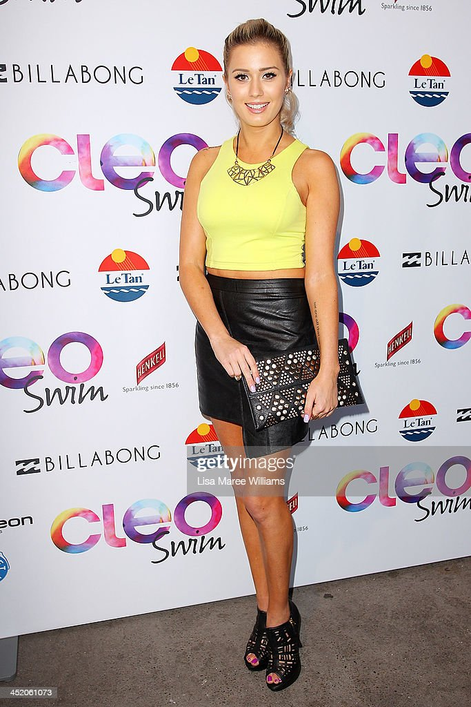 Carissa Pukas arrives at the 2013 CLEO Swim Party at The Bucket List on November 26, 2013 in Sydney, Australia.