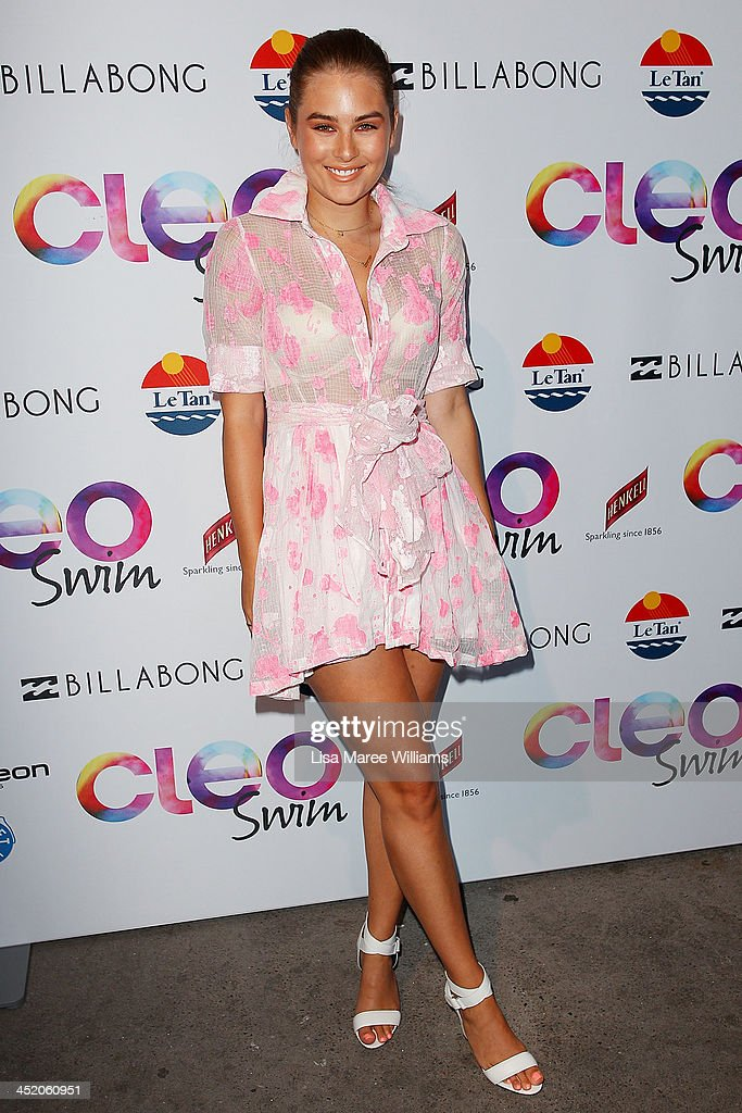 Carissa Walford arrives at the 2013 CLEO Swim Party at The Bucket List on November 26, 2013 in Sydney, Australia.