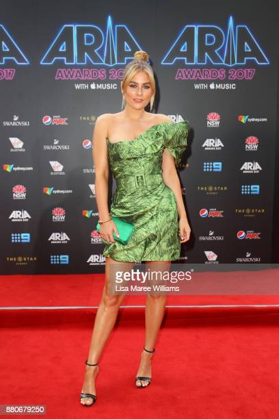 Carissa Walford arrives for the 31st Annual ARIA Awards 2017 at The Star on November 28 2017 in Sydney Australia