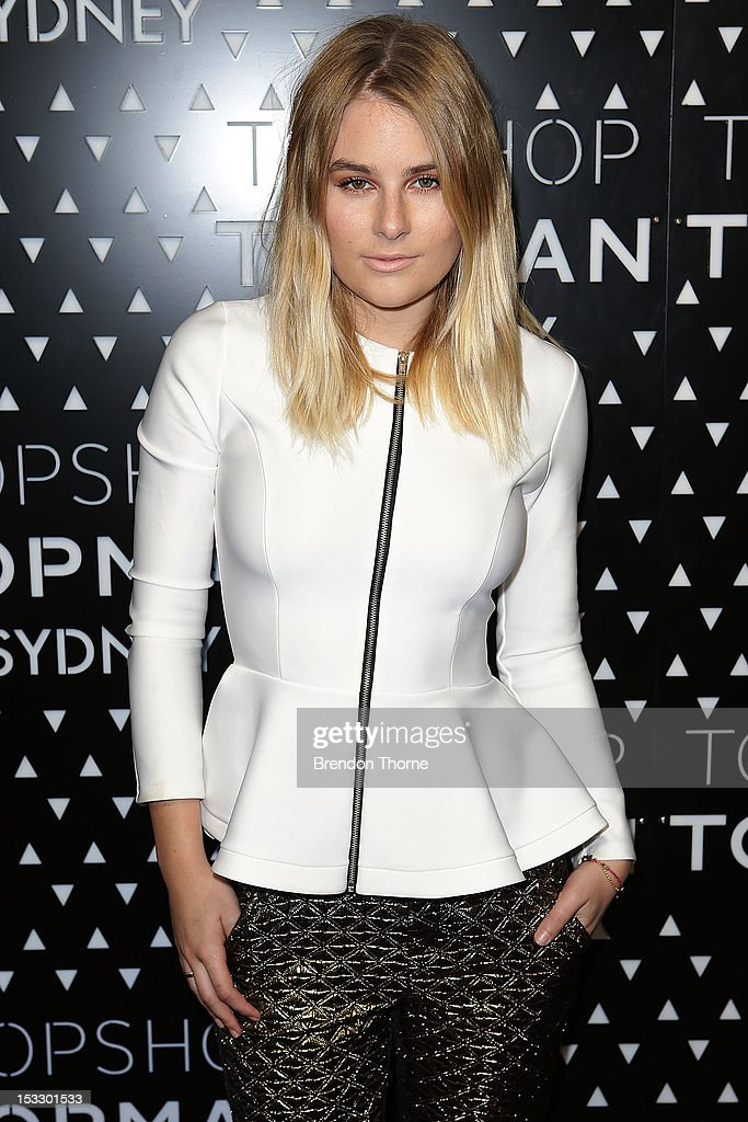 Carissa Walford arrives for the Topshop Topman Sydney launch party on October 3, 2012 in Sydney, Australia.
