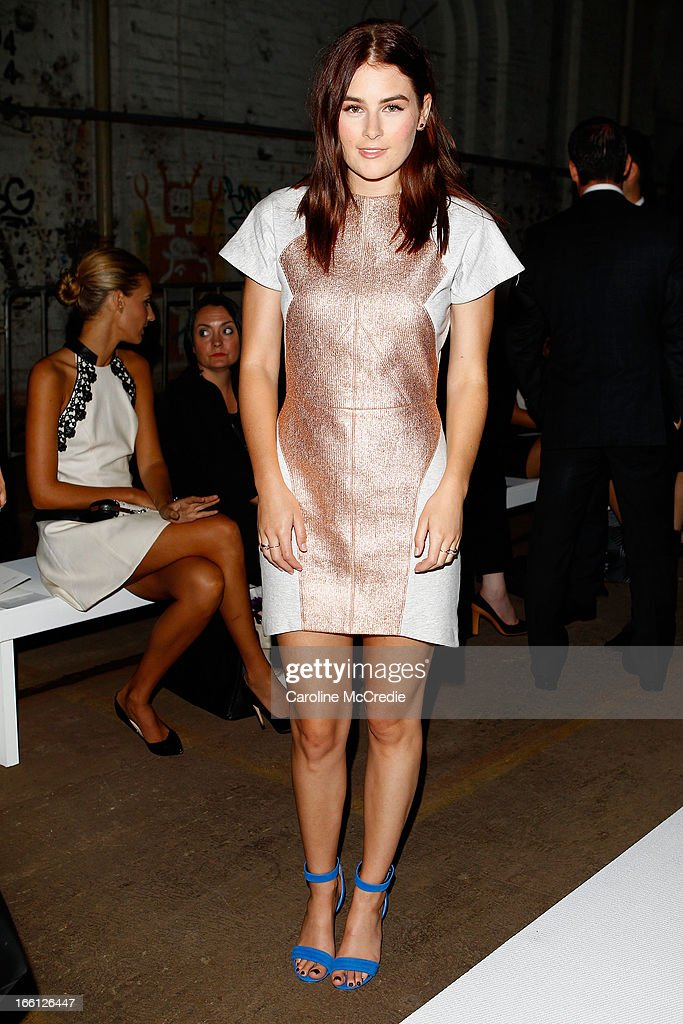 Carissa Walford attends the Manning Cartell show during Mercedes-Benz Fashion Week Australia Spring/Summer 2013/14 at The Shed, Carriageworks on April 9, 2013 in Sydney, Australia.