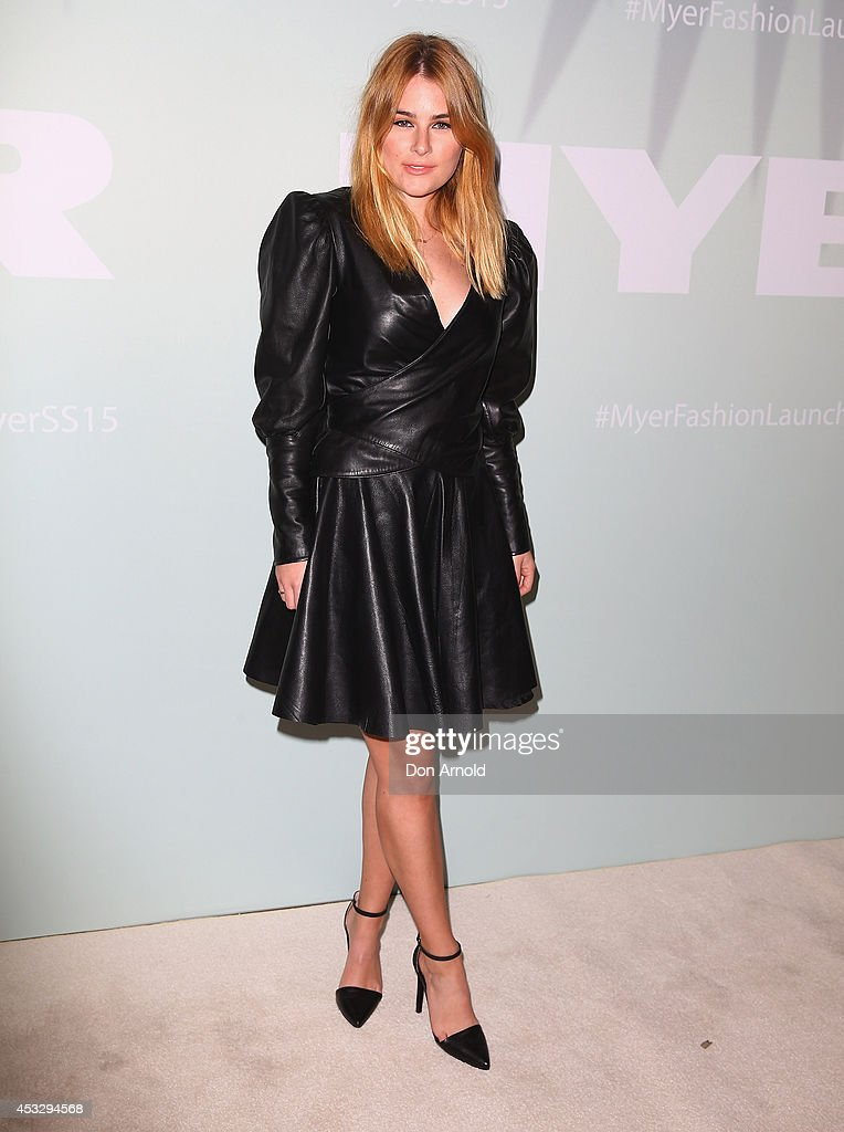 Carissa Wormald arrives at the Myer Spring Summer 2014 Fashion Launch at Carriageworks on August 7, 2014 in Sydney, Australia.