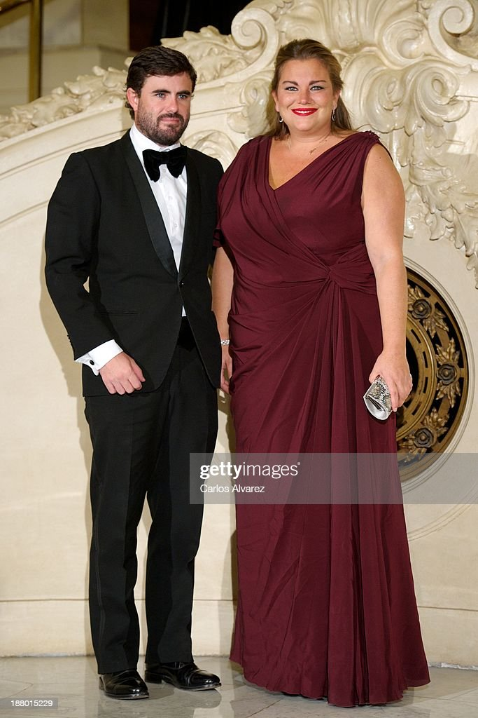 Caritina Goyanes and husband Antonio Matos attend the Ralph Lauren Dinner Charity Gala at the Casino de Madrid in on November 14, 2013 in Madrid, Spain.