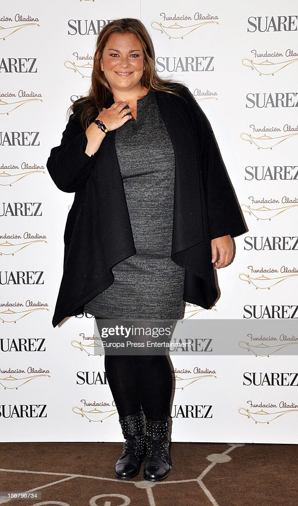 Caritina Goyanes attends the presentation of the charity bracelet by Suarez and Aladina Foundation on November 20, 2012 in Madrid, Spain.